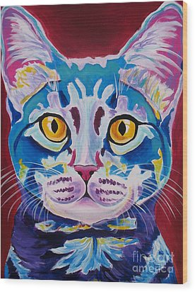 Cat - Mystery Reboot Wood Print by Alicia VanNoy Call