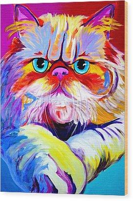 Cat - Tigger Wood Print by Alicia VanNoy Call