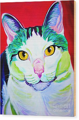Cat - Zooey Wood Print by Alicia VanNoy Call