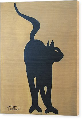 Cat Dance..... Optical Illusion Wood Print by Patrick Trotter