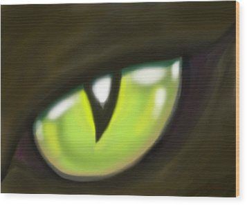 Cat Eye Wood Print by Kevin Middleton