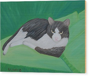 Cat Portrait  Sold Wood Print by Ruth  Housley