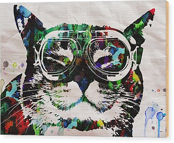 Cat Watercolor Rainbow Dreaming In Color Poster Print By Robert R Wood Print by Robert R Splashy Art Abstract Paintings