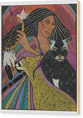 Cat Woman From Palenque Wood Print