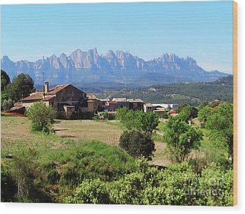 Catalan Landscape In Spring Wood Print