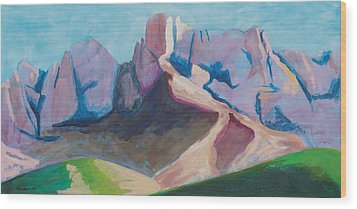 Catalina Blue Wood Print by Mordecai Colodner