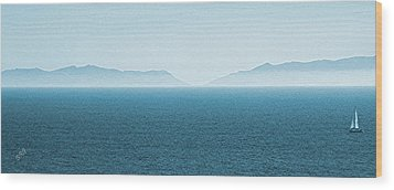 Catalina Island Large Panoramic Color Fine Art Print On Metal Wood Print by Ben and Raisa Gertsberg