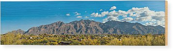 Wood Print featuring the photograph Catalina Mountain Panorama by Dan McManus