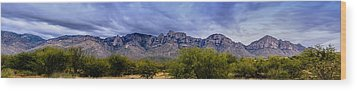Wood Print featuring the photograph Catalina Mountains P1 by Mark Myhaver