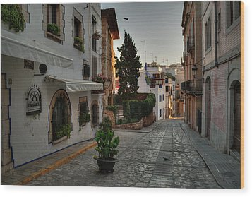 Wood Print featuring the photograph Catalonia - The Town Of Sitges 003 by Lance Vaughn