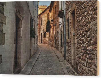 Wood Print featuring the photograph Catalonia - The Town Of Sitges 006 by Lance Vaughn