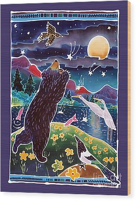 Catch A Shooting Star Wood Print by Harriet Peck Taylor