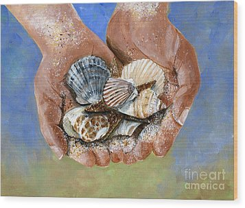 Catch Of The Day Wood Print by Sheryl Heatherly Hawkins