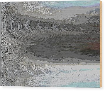 Catch The Wave Wood Print by Tim Allen