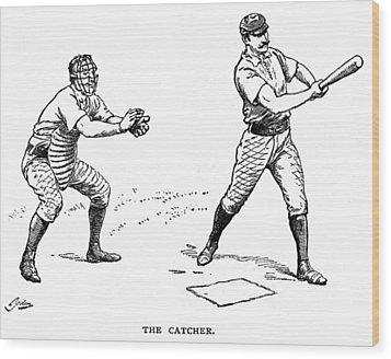 Catcher & Batter, 1889 Wood Print by Granger