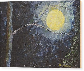 Catching The Moon Wood Print