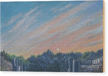 Catching The Sunset Wood Print by Penny Neimiller