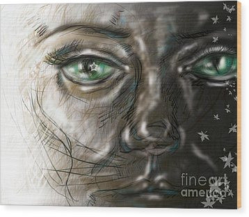 Catface Wood Print