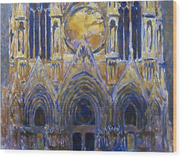 Wood Print featuring the painting Cathedral 2 by Valeriy Mavlo