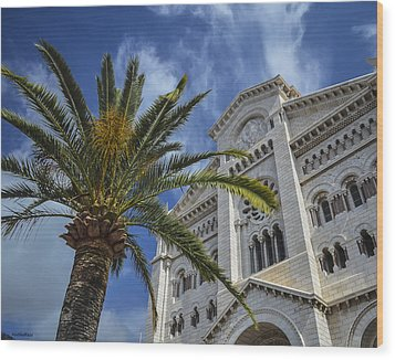 Wood Print featuring the photograph Cathedral At Monte Carlo by Allen Sheffield