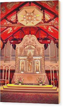 Cathedral Basilica Of St. Augustine Wood Print by Rich Leighton