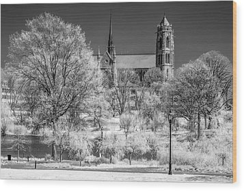 Wood Print featuring the photograph Cathedral Basilica Of The Sacred Heart Ir by Susan Candelario
