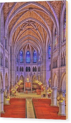 Wood Print featuring the photograph Cathedral Basilica Of The Sacred Heart Newark Nj II by Susan Candelario