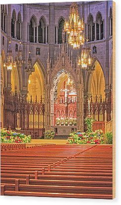 Wood Print featuring the photograph Cathedral Basilica Of The Sacred Heart Newark Nj by Susan Candelario