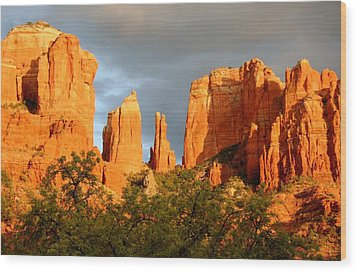 Cathedral Formation Wood Print