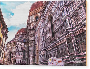 Wood Print featuring the photograph Cathedral In Rome by Linda Constant
