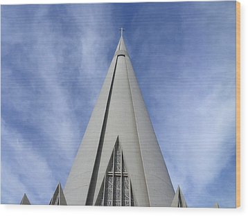 Cathedral Minor Basilica Our Lady Of Glory Wood Print by Bruna Lima