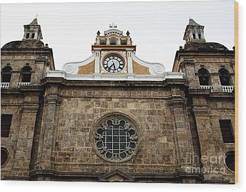 Cathedral Of Cartagena Wood Print by John Rizzuto