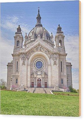 Cathedral Of Saint Paul, In St. Paul Minnestoa Wood Print by Jim Hughes