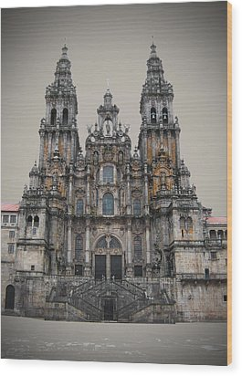 Cathedral Of Santiago De Compostela Wood Print by Jasna Buncic
