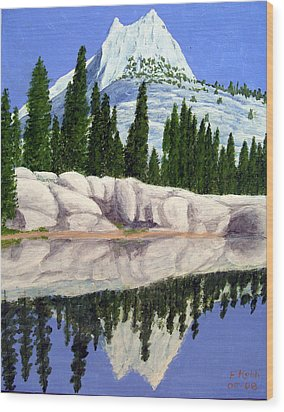 Wood Print featuring the painting Cathedral Peak by Frederic Kohli