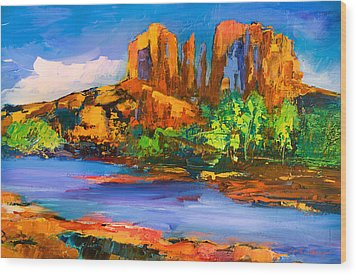 Cathedral Rock Afternoon Wood Print