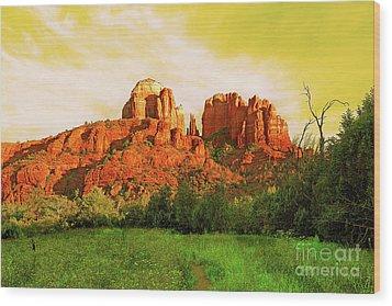 Cathedral Rock Az Wood Print