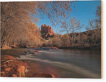 Cathedral Rock Sedona Arizona Wood Print by Larry Marshall