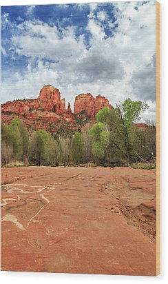 Wood Print featuring the photograph Cathedral Rock Sedona by James Eddy