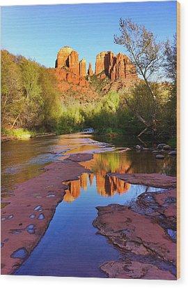 Cathedral Rock Sedona Wood Print by Matt Suess
