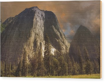 Cathedral Rocks Wood Print by Michael Cleere