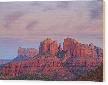 Wood Print featuring the photograph Cathedral Rock by Patricia Davidson