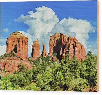 Cathedral Sed M 04-115 Wood Print by Scott McAllister