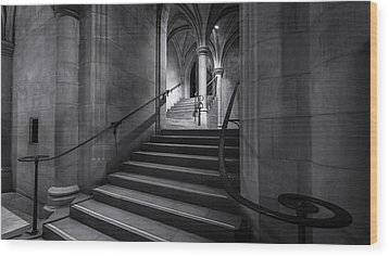 Cathedral Stairwell Wood Print