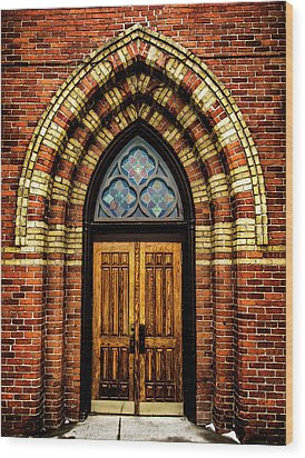 Wood Print featuring the photograph Cathedral Tower Door by Onyonet  Photo Studios