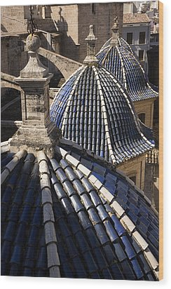 Cathedral Valencia Side Domes Wood Print by For Ninety One Days