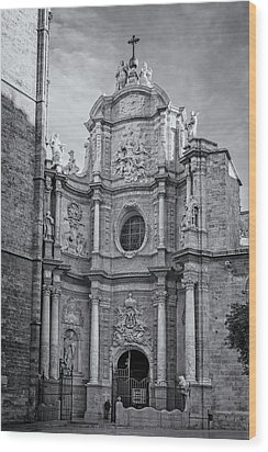 Wood Print featuring the photograph Cathedral Valencia Spain by Joan Carroll