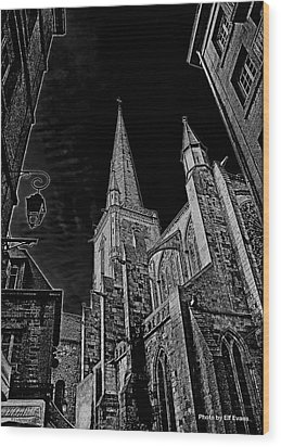 Wood Print featuring the photograph Cathedrale St/. Vincent by Elf Evans