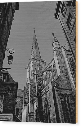 Wood Print featuring the photograph Cathedrale St. Vincent  by Elf Evans