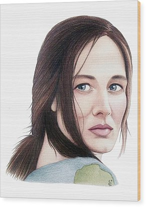 Catherine Mccormack  Wood Print by Danielle R T Haney